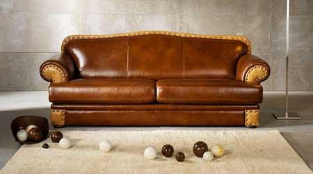 Перетяжка кожаных диванов