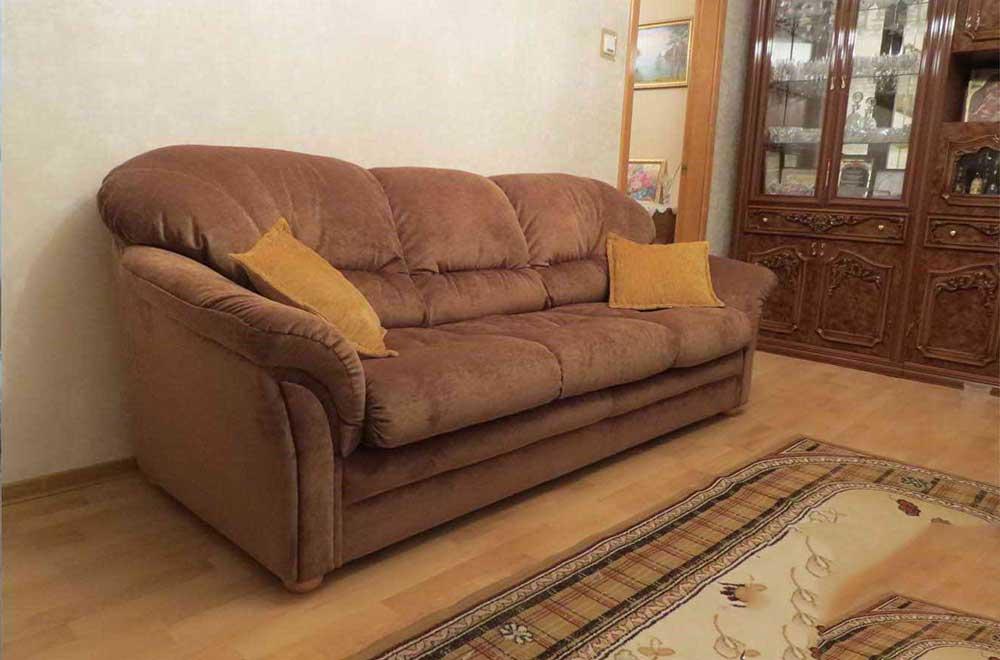 тканевый диван после перетяжки