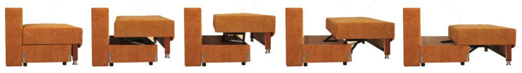 Схема разложения дивана Пантограф