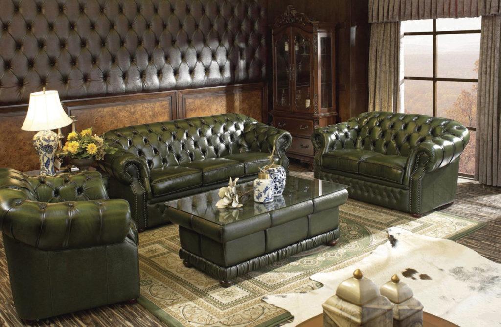 Коллекция мягкой мебели Честер в гостиной
